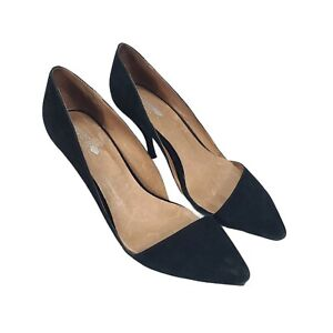 Jeffrey Campbell Free People Womens Sz 10 Black Suede Leather Pumps Heels Shoes