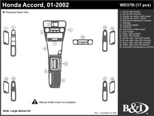 HONDA ACCORD 2001 2002 DASH TRIM KIT i
