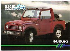 Suzuki SJ 410 1985-86 UK Market Sales Brochure Estate Soft Top