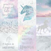 I Believe In Unicorns Pink Silver Wallpaper