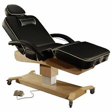 Mt Massage 30 Inch MaxKing Salon SPA Therapy Electric Lift Table Bed Chair Black