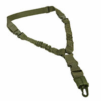 Rifle Bungee Cord 1 Single Point Sling Quick Detach Connect Adjustable OD Green