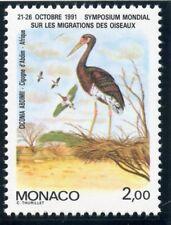 STAMP / TIMBRE DE MONACO N° 1754 **  MIGRATION DES OISEAUX / CIGOGNE D'ABDIM