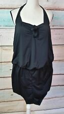 NEW SWIMSUITS FOR ALL WOMENS BLACK SWIMSUIT SIZE 16 NWT