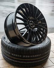 18 Zoll AX5 Alu Felgen für Mercedes A C Klasse W204 W176 CLA AMG A45 schwarz GTI