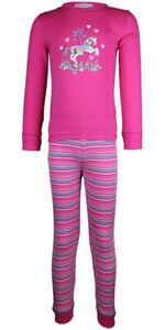 MiniZZZ Carousel Horse L/S Cotton T-Shirt / Long John Pyjama Set Pink (3)