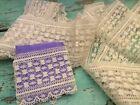Vintage Fine Wide Torchon Bobbin Lace - Sew, Weddings, Dolls, Crafts - 3+ Yds.