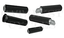 Arlen Ness Black Knurled Fusion Grips, Shift Peg & Ness Foot Pegs Set Fits 84-14