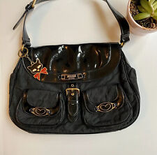 Moschino Patent Leather Shoulder Bag Kitty Key Detail Luxe Vintage Designer