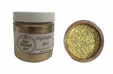 Highlighter Gold Metallic Dust  4 oz Cake Fondant cupcake Wedding Decorating