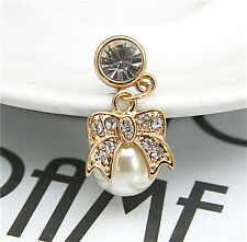 New Crystal Pearl Earphone Jack Anti Dust Plug Cap Stopper For Cell Phone 3.5mm