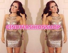 New Women Sequins Bodycon Slim Cocktail Clubwear Evening Party Mini Dress