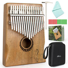 Horse Kalimba Thumb Piano 17 Keys Solid Mahogany with Tuner Hammer Gig Bag