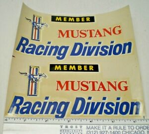 """ORIGINAL VINTAGE  WATER DECAL """" MUSTANG RACING DIVISION """" NOS from the 60's"""