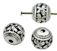 10/20Pcs Tibetan Silver Loose Ball Charm Spacer Beads Jewelry Making DIY 8mm