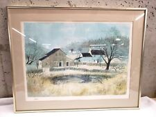 Jeremy King Signed and Numbered Winter Scene Print