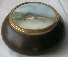 Hand Turned Wooden Lidded Bowl with Hand Painted Watercolour by Joday Russell