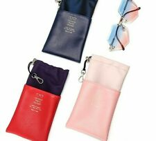Leather Glasses Soft Pouch Case Sunglasses Waterproof Protector Holder Handbags