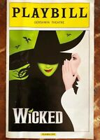 Wicked Playbill Gershwin Theatre July 2014 New York
