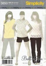 Misses Slim Leg Pants Capris or Shorts Simplicity 3850 Size 4-12 Modern Fit