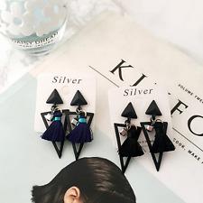 Un par ala completa de diamantes de imitación Angell Tornillo de oreja dobladillo pendientes clip de Borla Stud WT