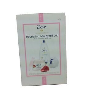 Dove Nourishing Beauty Gift Set Limited Edition With Dove Exfoliating Polish New