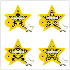 4 Pcs Packed Stars Set Cookie Cake Stencil Decorate Mould Fondant Biscuit Tool