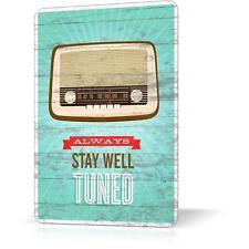 METAL TIN SIGN PROVERBS RADIO RETRO Vintage Decor Home Wall Poster Inpsirational