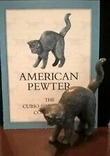 Franklin Mint Curio Cabinet Cats, American Pewter, 1988