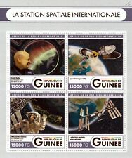 INTERNATIONAL SPACE STATION (ISS) Astronauts & SpaceX Dragon Stamp Sheet (2016)
