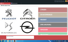 Diagbox 9.68 fully activated software for Peugeot and Citroen on Virtual Machine