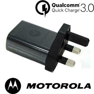 Motorola TurboPower 18W Qualcomm Charger Original UK Mains Wall Quick Charger