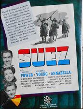 "TYRONE POWER  ""Suez"" -  PETER LORRE  ""Mr. Moto""  Trade Ad  1938 - RITZ BROTHERS"