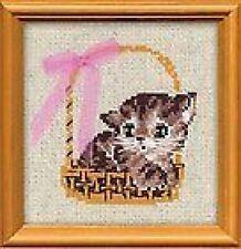 "Kitten in Gift Basket Cross Stitch Kit (Riolis 1048) 6""x 6"""