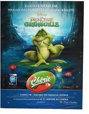PUBLICITE ADVERTISING   2010     CHERIE FM radio  DISNEY la PRINCESSE GRENOUILLE