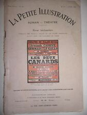 Revue LA PETITE ILLUSTRATION les Deux Canards alfred athis roman théatre de 1914