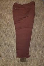 """Vintage 1950's BOGNER Brown Outdoor Ski WOOL pants ZIPP Zipper 35"""""""