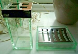 New Habitat Bathroom Accessories Toothbrush Holder and Soap Dish