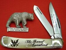 BEAR & SON 2nd AMENDMENT TRAPPER COLLECTORS KNIFE