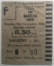 Beatles Original Used Concert Ticket City Hall Sheffield 9th Nov 1964