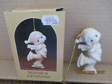 Precious Moments 1982 Ornament Dropping In For Christmas E-2369