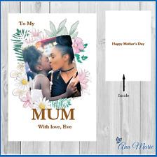 Foto Personalizzata le Madri Giorno Compleanno Carta Mummy Mum Nonna Nanny Nonna GRAN