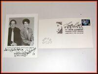 Lucille Ball Festival Comedy Jamestown signed card LUCIE ARNAZ, LARRY LUCKINBILL