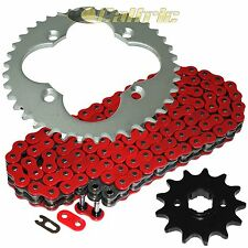 Red O-Ring Drive Chain & Sprocket Kit Fits HONDA ATC250R 1986 / TRX250R 1986 87