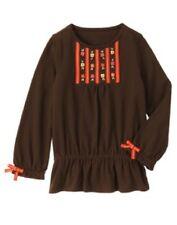 Gymboree Woodland Friends Top Size 5 Brown Tunic Shirt Fall Girls New Twins