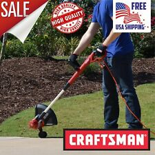 "Craftsman 15"" Electric Corded Line Trimmer, Weed Eater Weedwacker Grass Edger"