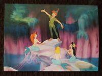3 Walt Disney Studios Animation Art PETER PAN & THE MERMAIDS Promo Post Cards