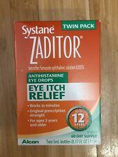 Zaditor Antihistamine Eye Drops Twin Pack (0.17  Fl oz per Bottle) EXP: JAN 2021