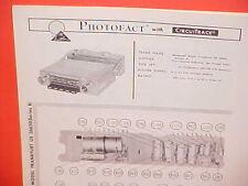 1967 BLAUPUNKT FRANKFURT US 36650 SERIES X AM-FM-SW RADIO SERVICE SHOP MANUAL 67