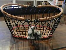 Oval Wire Basket with Handles - Vintage Style